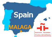 Cervantes Malaga Spain map